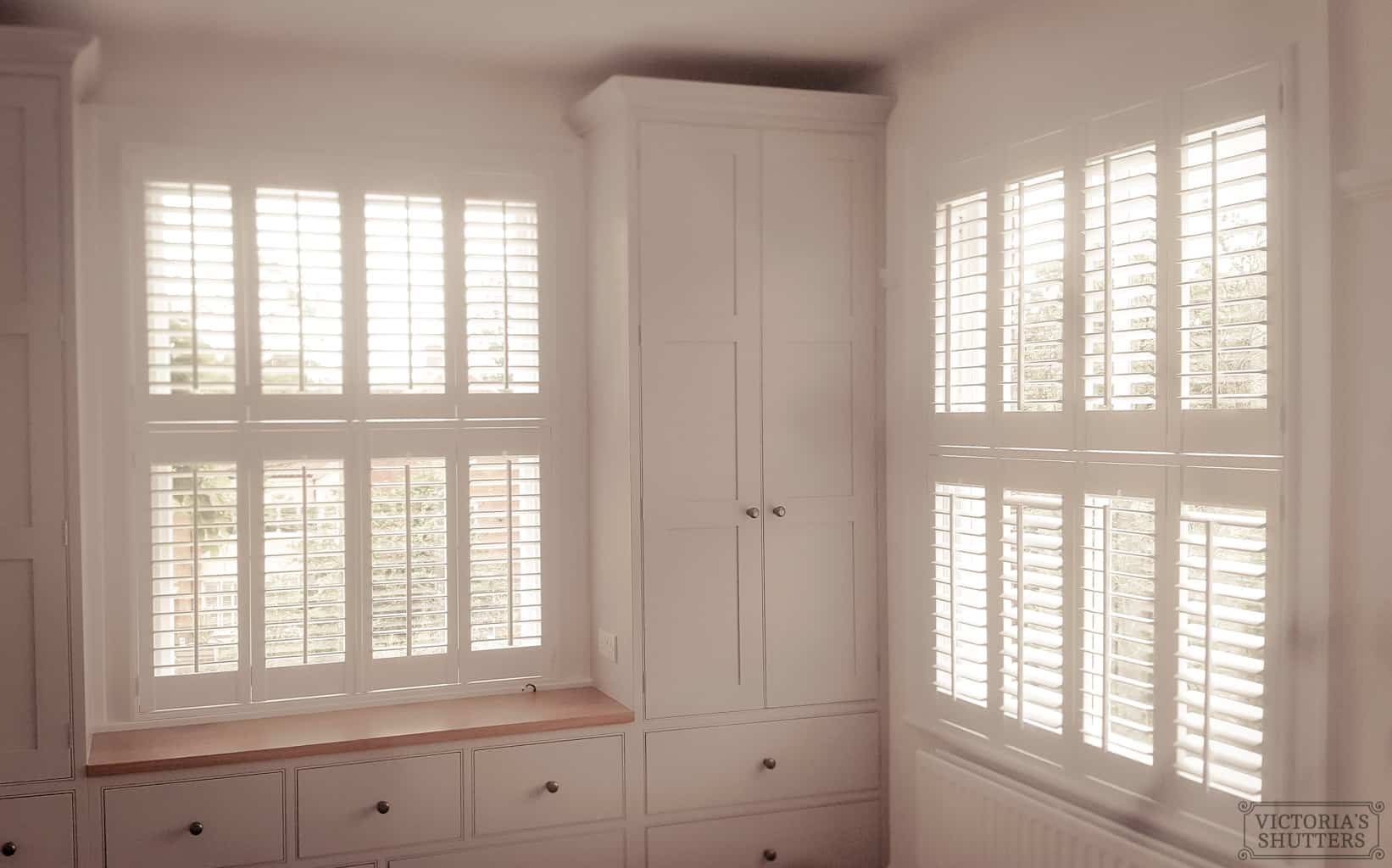 finished bedroom tier on tier plantation shutters Yorkshire