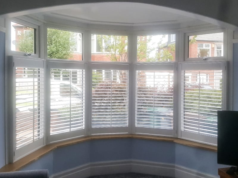 Recent jobs: Large white plantation shutters in Stocksfield