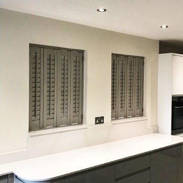 Recent Jobs: Kitchen shutters – Stone Grey Georgia Tilt Rod