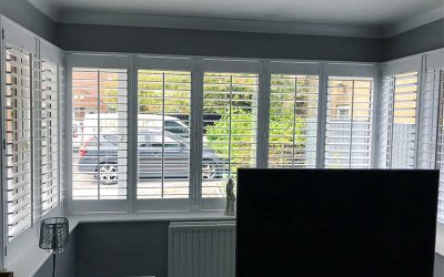 Recent Jobs: White wooden shutters in North Shields